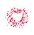 heart shaped confetti happy valentines day lovely vector image