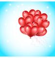 heat balloons flying vector image vector image
