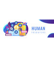 human resources concept banner header vector image vector image