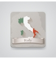 icon italy map with flag vector image