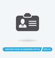 id card icon simple car sign vector image