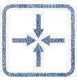 impact arrows fabric textured icon vector image vector image