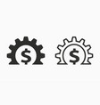 investments money icon simple pictogram vector image vector image