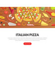 italian pizza landing page templates set fresh vector image