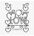 Love design romantic icon Colorful vector image vector image