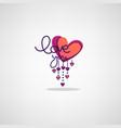 love lettering logo lebel emblem in boho doodle vector image vector image