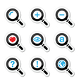 Magnyfying glass search icons set vector image vector image