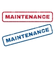 Maintenance Rubber Stamps vector image vector image