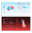 medical hud interface horizontal banners vector image vector image
