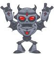 metalhead - heavy metal robot vector image vector image