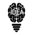 mind idea logo simple style vector image