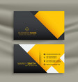 minimal yellow and black business card design vector image vector image