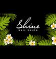 nail salon business card design manicure beauty vector image