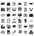 online business icons set simple style vector image vector image