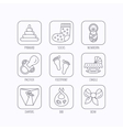Pacifier diapers and newborn icons Footprint vector image vector image