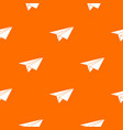 paper plane pattern seamless vector image vector image