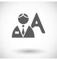 Person single flat icon vector image vector image