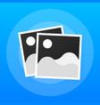 photo icons photo frames retro photos flat icon vector image vector image