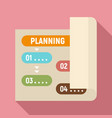 planning paper icon flat style vector image