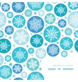 Round Snowflakes Corner Frame Pattern Background vector image vector image
