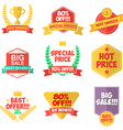 set discount labels and badges vector image