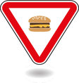 Sign Cheeseburger vector image vector image