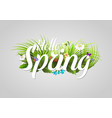 spring text lettering background with vector image vector image