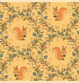 squirrels pattern vector image vector image
