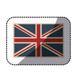 Sticker flag united kingdom classic british opaque