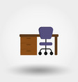 table workplace vector image