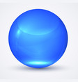 transparent blue sphere globe vector image