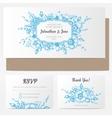 vintage floral wedding invitation vector image vector image