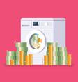 washing machine laundering money vector image vector image