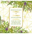 wedding invitation with greenery vector image vector image