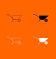 wheelbarrow cart icon vector image