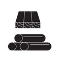 wooden planks and rolls black concept icon vector image