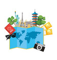 world landmarks icon vector image vector image