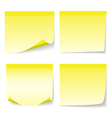 Yellow stick note set vector image vector image