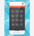 smartphone and icon vector image