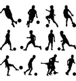 kid play soccer vector image