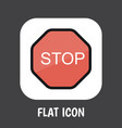 of safety symbol on stop sign vector image