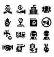 peace icon vector image