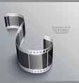 3d film strip on gray background design vector image vector image