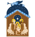 adoration of the magi mary and jesus vector image