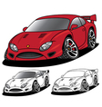 Angry Sports Car vector image