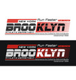athletic brooklyn sports typography design vector image vector image