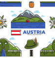 austria travel destination nature and national vector image vector image