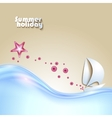 Background with seaside view vector image