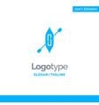 boat canoe kayak ship blue business logo template vector image