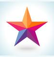 bright colorful star shape in modern polygonal